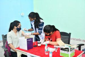 टीएचडीसीआईएल में 18 से 45 वर्ष की आयु वर्ग के लिए आयोजित हुआ कोविड टीकाकरण कैंप