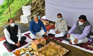 मुख्यमंत्री ने किया सुनील सदन का भूमि पूजन