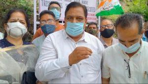 पेट्रोल-डीजल की कीमतों के खिलाफ कांग्रेस का देशव्यापी व सोलन में धरना प्रदर्शन