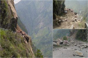 हरिद्वार से हिमाचल के किन्नौर जा रही बस पर गिरा पहाड़, 50 से अधिक सवारियां हुई लापता