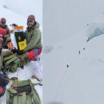 माउंट बलबला पर पहुंचे आईटीबीपी के पर्वतारोही पहाड़ फतह करने वाले बने पहले भारतीय