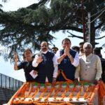 अल्मोड़ा में जन आशीर्वाद यात्रा के दौरान बोले धामी, हमारा मकसद सिर्फ विकास